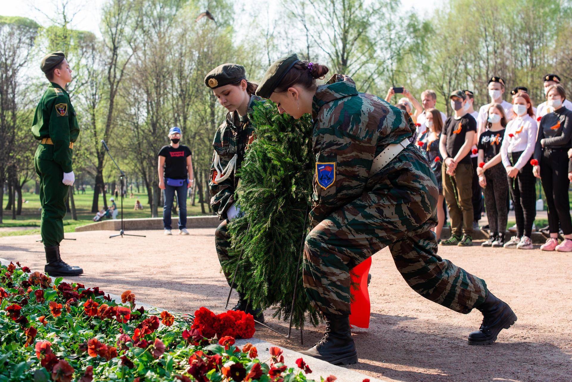 Церемония возложения цветов, посвященная Дню памяти и скорби.
